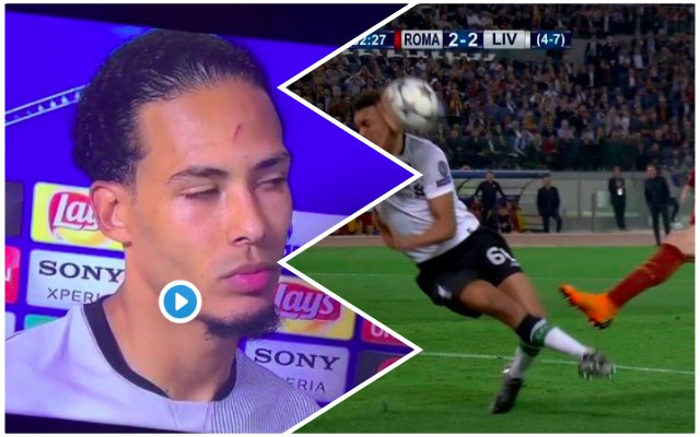 (Video) Van Dijk's quality response to 'Trent's hand-ball' question