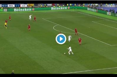 (Video) Real Madrid score their third after another shocking Karius error