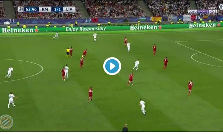 (Video) Gareth Bale scores stunning Madrid second to give Los Blancos the lead again