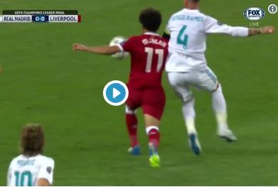 (Video) Salah subbed after he's brutally injured by cynical Ramos