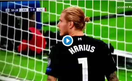 (Video) Real Madrid take the lead after devastating Karius error