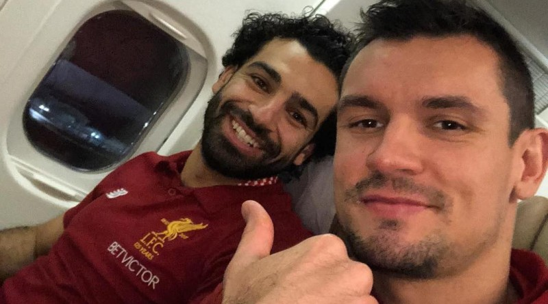 Lovren and Salah fight over who owns 'Gladiator Celebration'