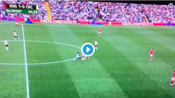 (Video) Jordan Henderson did something brilliant for England last night