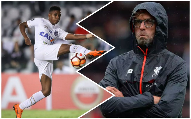 Klopp went to see Rodrygo in Brazil; wanted attacker as first LFC signing – claims agent