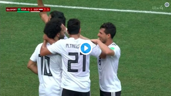 (Video) Mo Salah defies injury & Egyptian FA games to score sweet lob