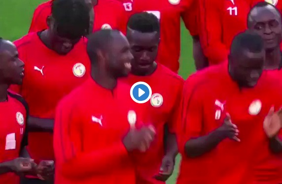 (Video) Sadio Mane practices dance-moves ahead of crunch Senegal clash