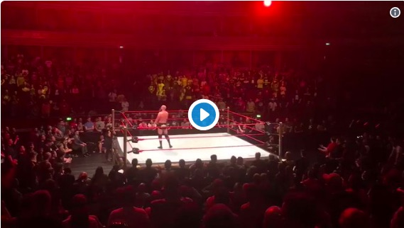 (Video) Wrester trolls London crowd with 'Allez Allez Allez'