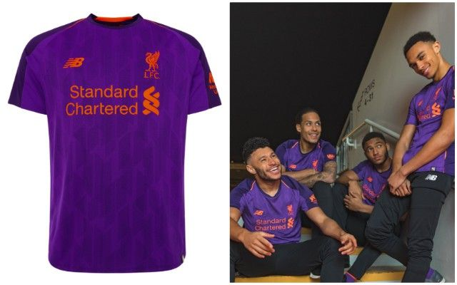 new arrival 3e43f 3e21a Liverpool release 2018/19 away kit, looks like Ribena