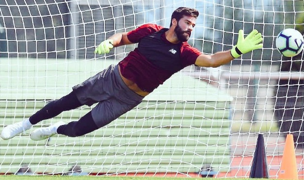 Why Alisson wore unexpected squad number during LFC training session