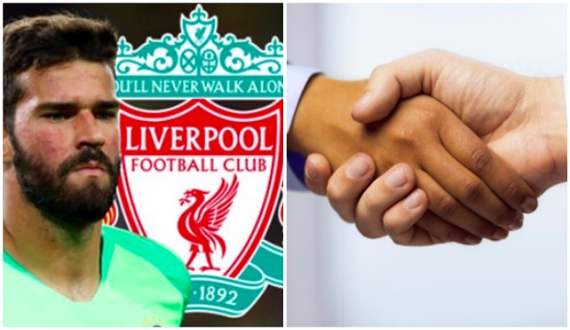 LFC agree fee for Alisson; €75m fee accepted; personal terms/medical required