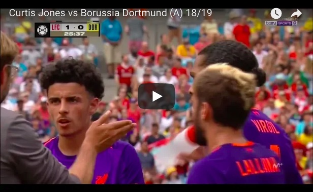(Video) Curtis Jones v Dortmund: Scouse teen impresses again