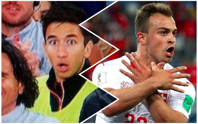 Marko Grujic has a problem with Xherdan Shaqiri