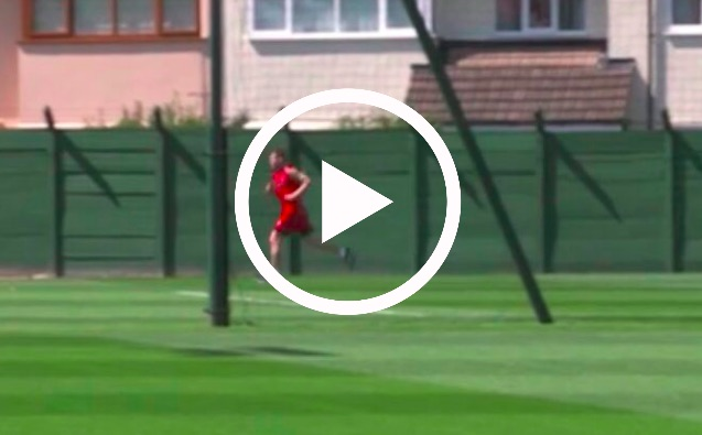(Video) Milner smashes LFC team-mates in fitness tests & tells them to 'Get out my way'