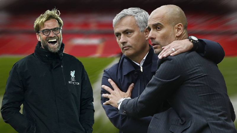 Klopp makes Mourinho joke after interrupting Guardiola conference