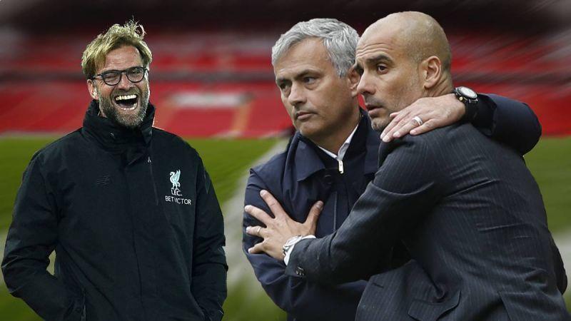 Klopp makes Mourinho joke after interrupting Guardiola conference