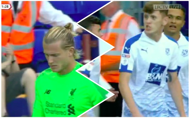 (Video) Tranmere player tells Karius 'You're F*cking Sh*te' after blunder