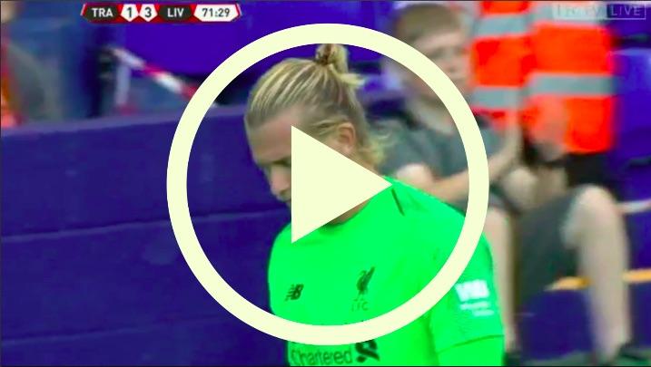 (Video) Loris Karius commits howler v Tranmere