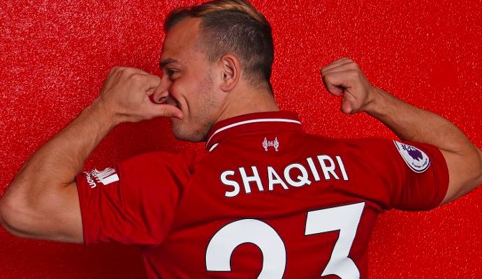 Xherdan Shaqiri sets mammoth goal in superb first Liverpool interview