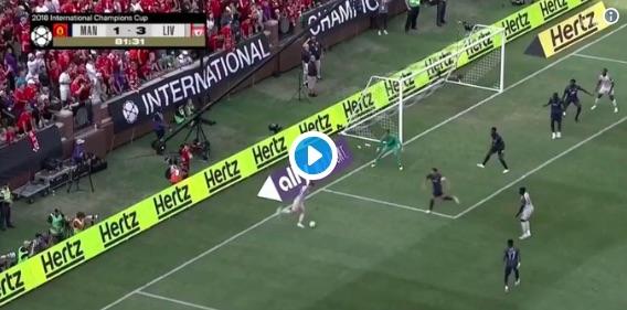 (Video) Shaqiri scores incredible bicycle kick v Man United