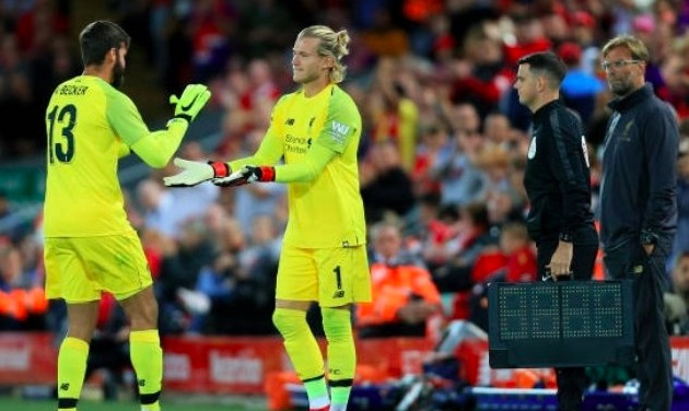 Karius suggests he'd be happy to be Alisson's backup at LFC, disregarding Adrian