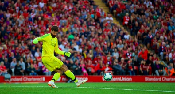 Alisson says all the right things on Twitter following Anfield debut