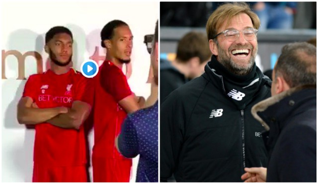 Van Dijk & Gomez try to do Boxer's staredown and fail miserably