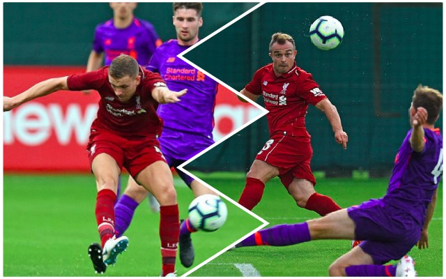 What happened in LFC's Melwood Friendly last night; with Shaqiri bagging