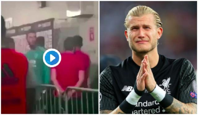 (Video) Asensio disrespecting Karius caught on camera