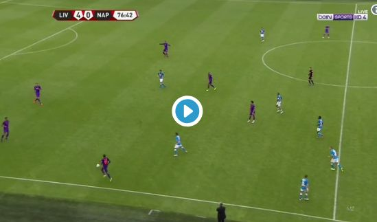 (Video) Sturridge's outrageous pass sets up Moreno wonder-goal to make it 5-0 vs Napoli