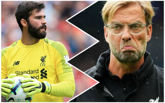 Klopp wasn't too happy with Alisson's antics against Brighton…