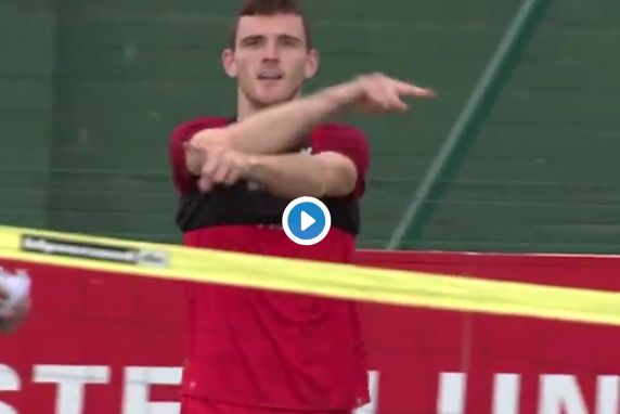 (Video) Liverpool ace calls for VAR as game of head tennis gets competitive
