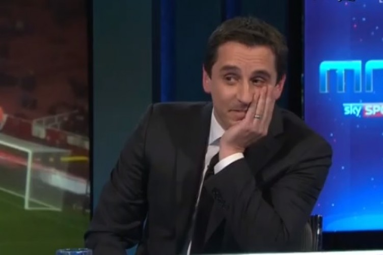 Gary Neville wears Liverpool shirt on MNF – but there was a twist for Jamie Carragher