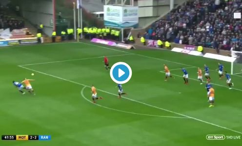(Video) Liverpool youngster scores superb goal for Steven Gerrard's Rangers