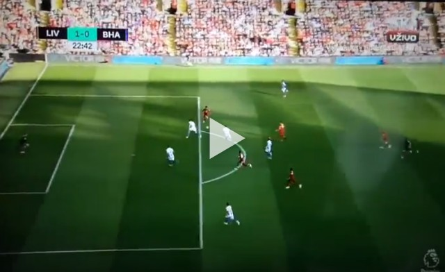 (Video) Mo Salah scores beautifully vs Brighton after classy Firmino assist