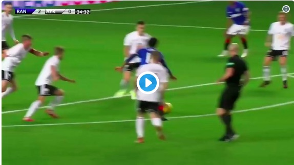 (Video) 'Some say he still has the ball…' Ejaria's Rangers skills circle Twitter