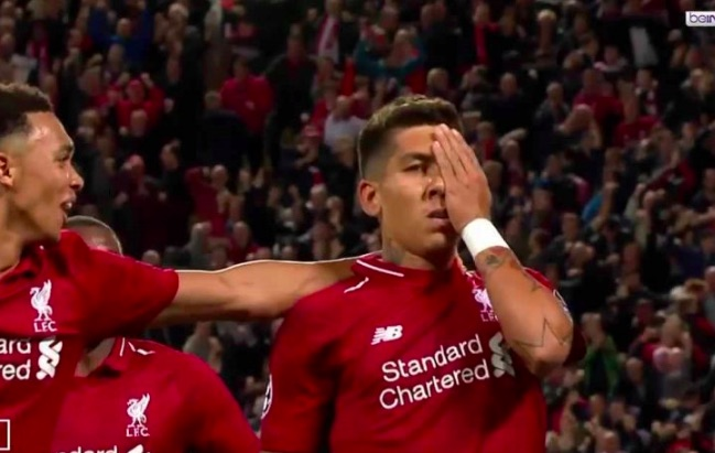 (Video) Firmino bags worldy & drops one-eye celebration 🔥