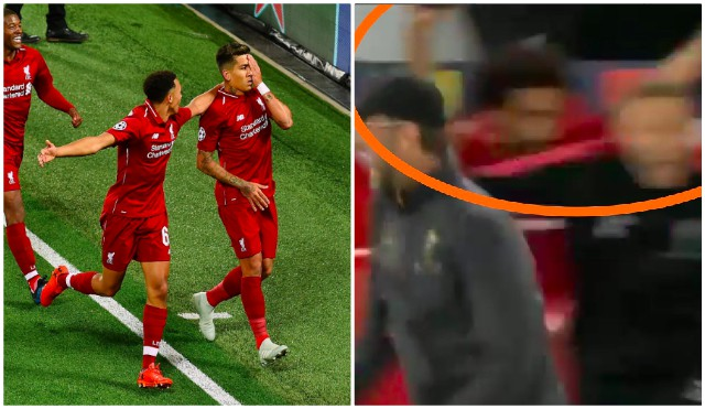 (Video) New Footage shows Salah actually did celebrate Firmino's goal