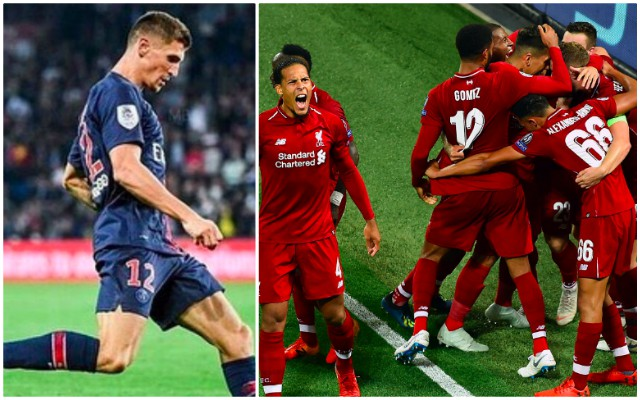 Thomas Meunier has paid Liverpool the ultimate compliment