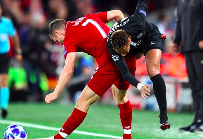 Milner takes the mickey out of Neymar on Instagram