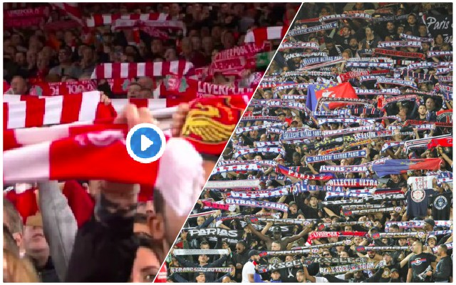 PSG fans showed massive class during YNWA…