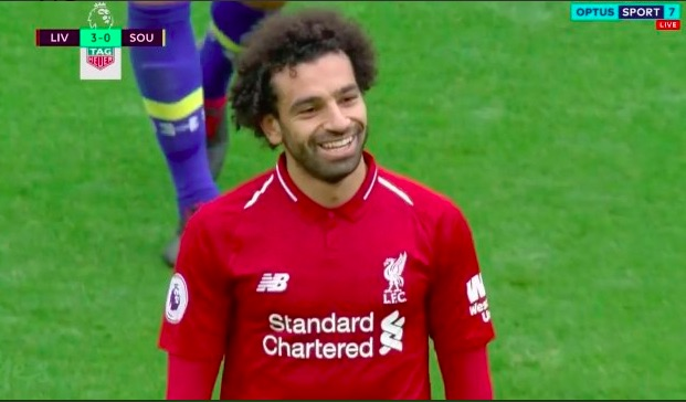 Five seconds of Mo Salah beaming with happiness