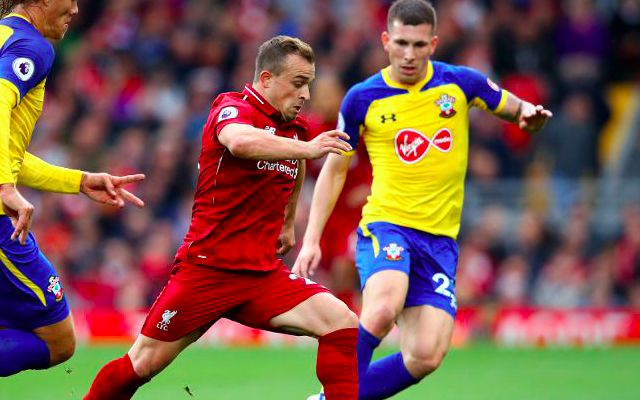 (Video) Xherdan Shaqiri showcases superb movement as no.10 v Southampton