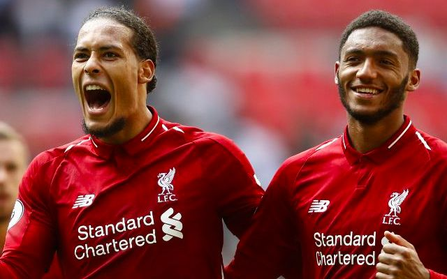 (Video) The glorious moment Virgil van Dijk was told about Joe Gomez's new deal