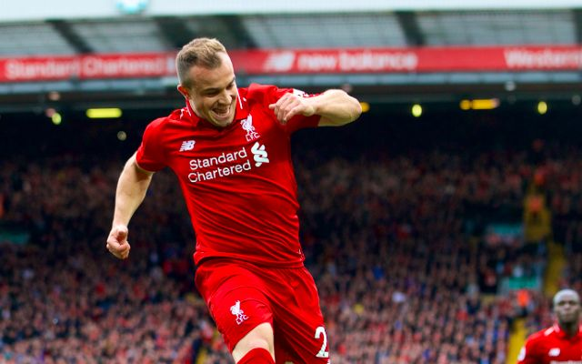 Klopp explains Xherdan Shaqiri's situation ahead of Man Utd clash