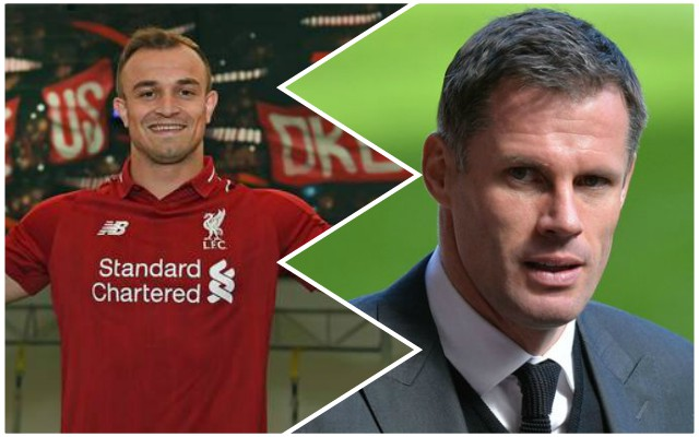 """He's a steal!"": Jamie Carragher gives emphatic verdict on Xherdan Shaqiri"