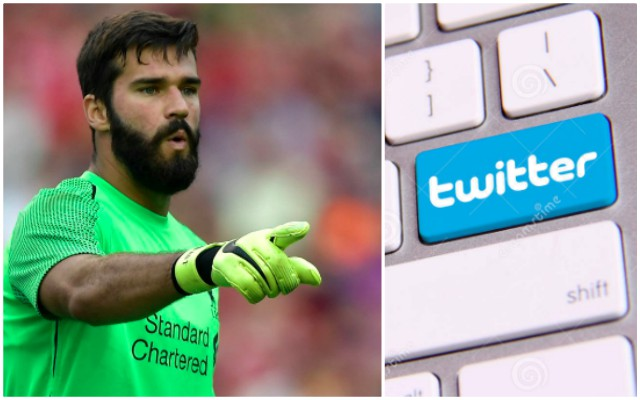 Alisson's late-night Twitter battle with Liverpool fan