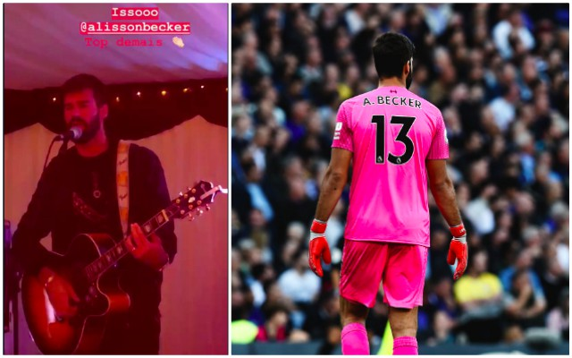 (Video) Alisson kills it on guitar during birthday bash