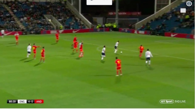 (Video) Dom Solanke scored a lovely finish for England U21s last night