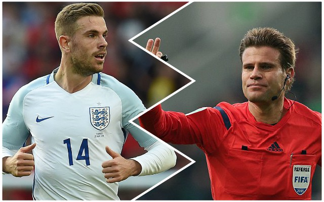 Henderson's hilarious response to refereeing decision caught on camera