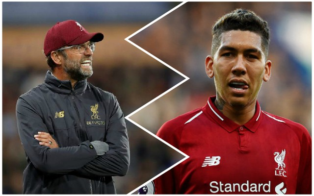 Jurgen Klopp explains decision to leave out Roberto Firmino
